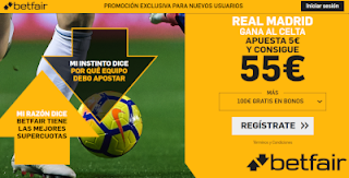 betfair supercuota Real Madrid gana Celta 17 agosto 2019