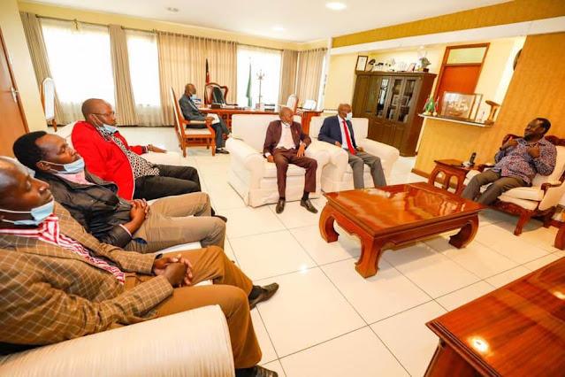 ODM leader Raila Odinga with Narok clergy photo