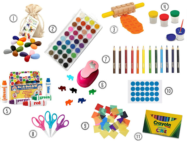Our favorite art supplies for toddlers from age 1 to 3-years-old