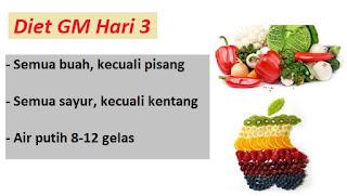 Diet gm hari ke 3