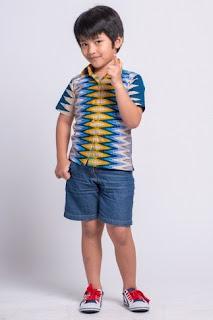 Model baju batik anak laki-laki trendy