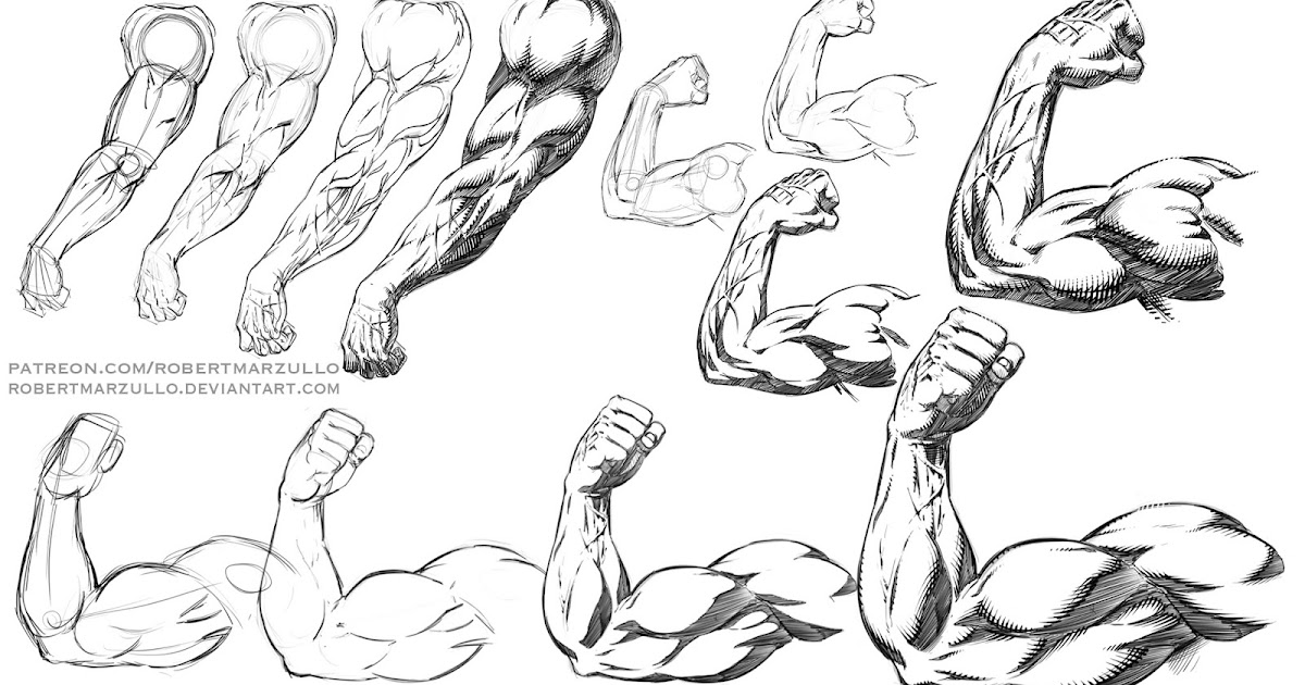 Ram Studios Comics How To Draw And Shade Muscular Arm