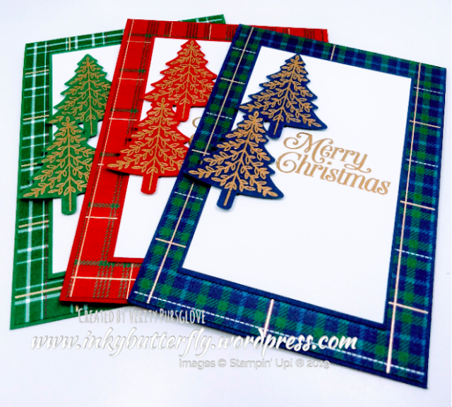 Nigezza Creates with Stampin' Up! and Inkybutterfly & wrapped in Plaid