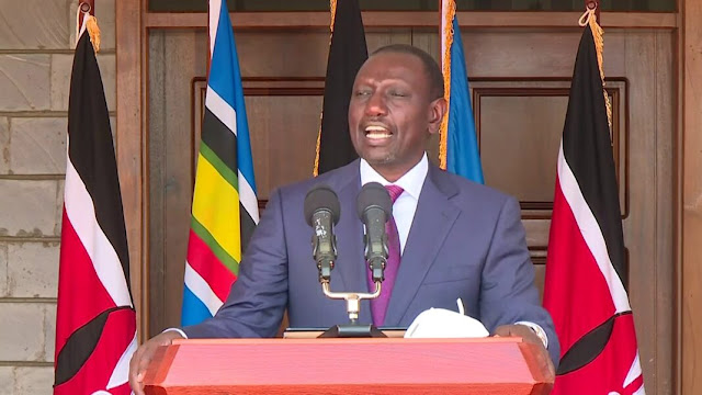William Ruto at his residence in Karen photo