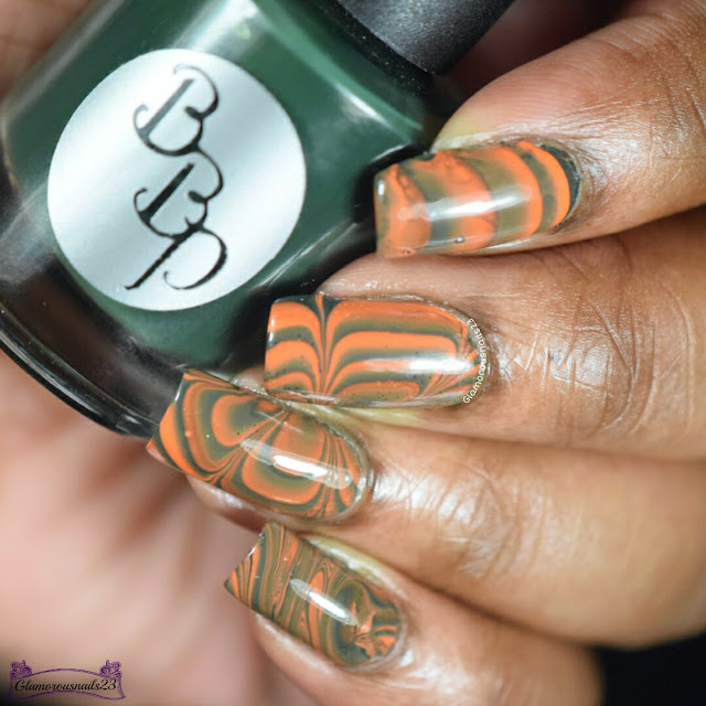 Watermarble Wednesdays Orange & Green