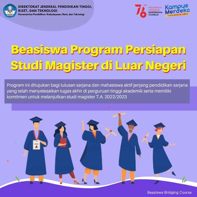 IKL UNIB   Beasiswa Program Persiapan Studi Magister di Luar Negeri