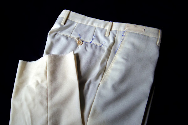 GTAのフランネル ホワイト パンツ
