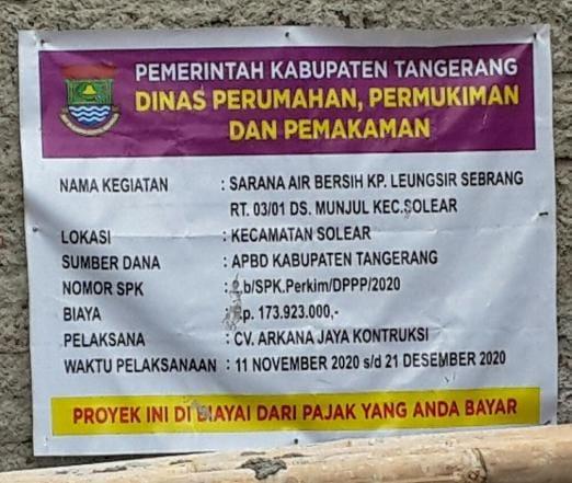 Ini Penyebab Dinas Perkim (DPPP) di Cap Pembohong Oleh Warga Kp Leungsir Desa Munjul