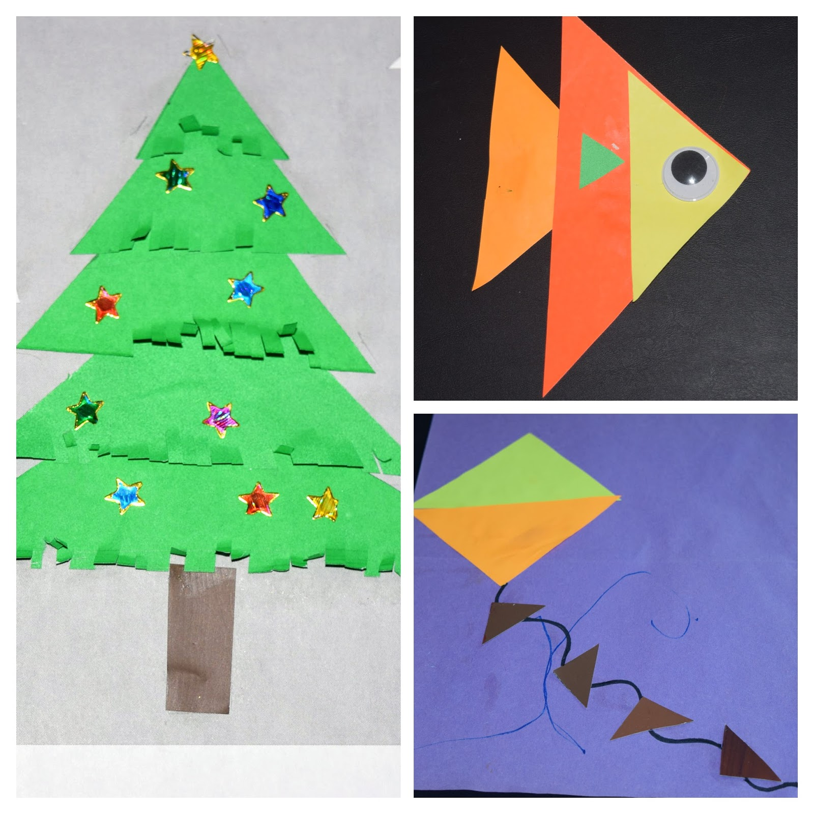 Sindhu\'s cocoon: Collage with Triangles!