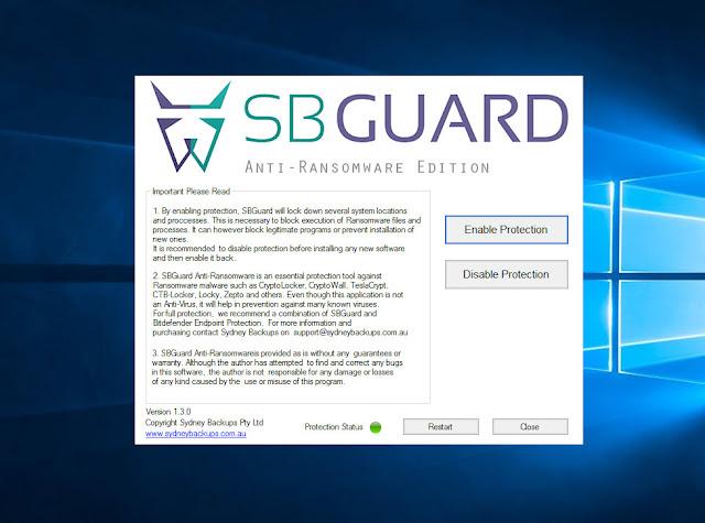 SBGuard Anti-ransomware giúp bảo vệ máy tính ngăn chặn tất cả các phần mềm lây nhiễm độc hại