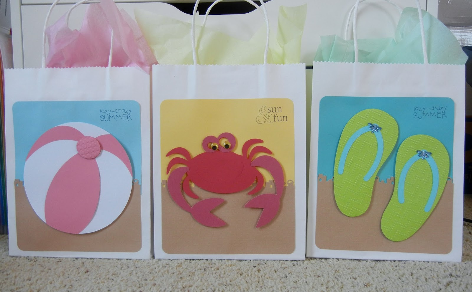 Cricket Craft Room: In Love With PAPER!!: Beachy Goodie Bags