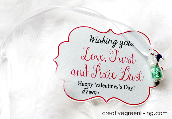 love, trust, pixie dust printable valentine necklace