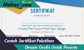 contoh sertifikat pelatihan desain grafis