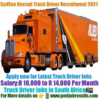 SydSen Recruit Truck Driver Recruitment 2021-22