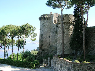 The medieval castle from which the resort of Castellammare di Stabia, built above a buried Roman city, takes its name