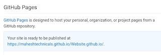 Github Page URL.