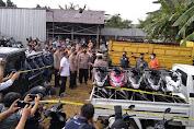 Polisi Gagalkan Ekspor 325 Unit Sepeda Motor dan 41 Mobil Bodong Ke Negara Timor Leste