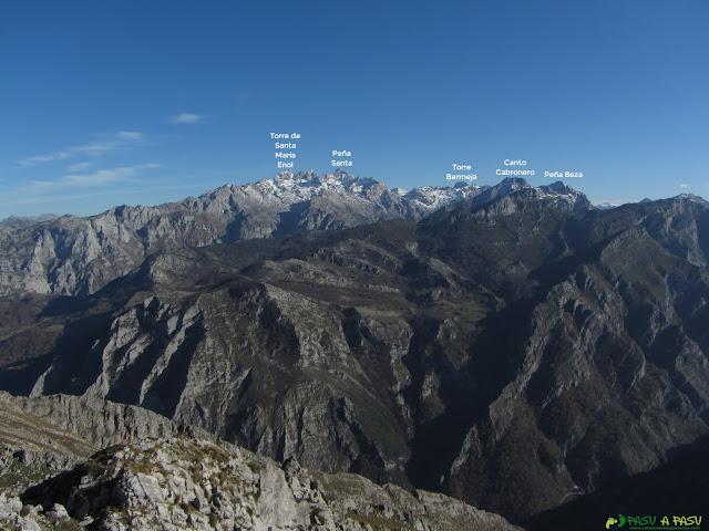 Vista de los Picos de Europa desde el Carriá