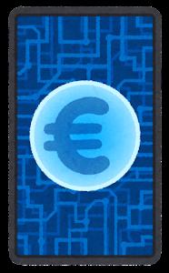デジタル通貨のイラスト(ユーロ)