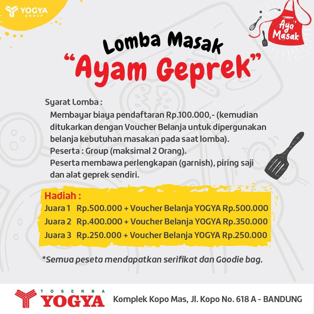 Yogya - Event Lomba Masak & Bimoli Spesial Cuma 1 Ribu (29 - 30 Sept 2018)
