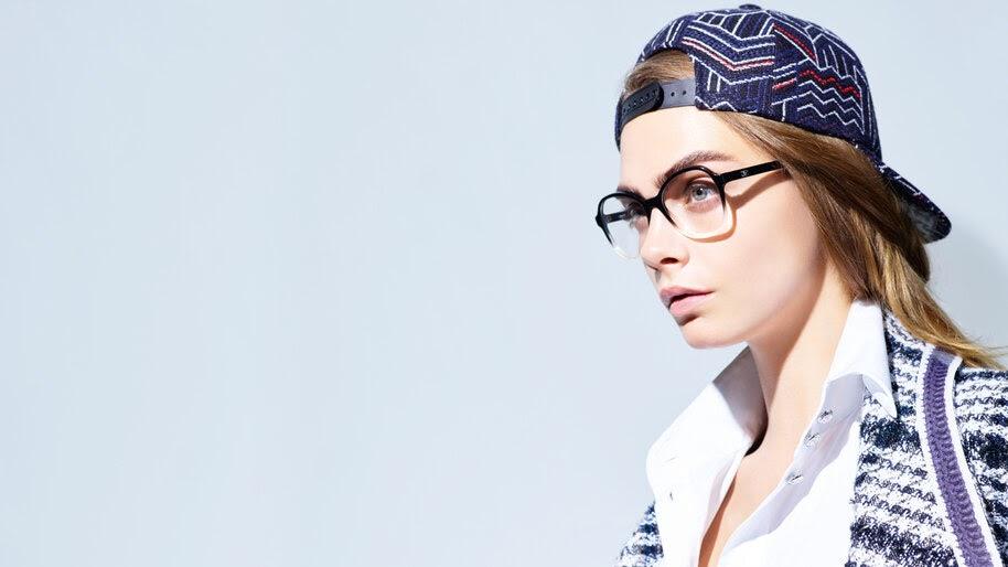 Cara Delevingne, Glasses, Model, 8K, #4.656