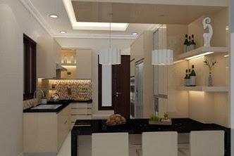 Jasa desain 3d kitchenset apartemen mewah berkualitas