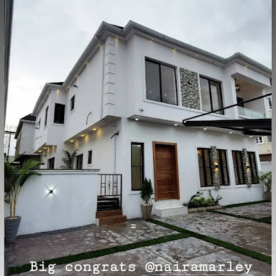 Another view of Marleys house - Naira Marley acquires new home in Lekki [photos]