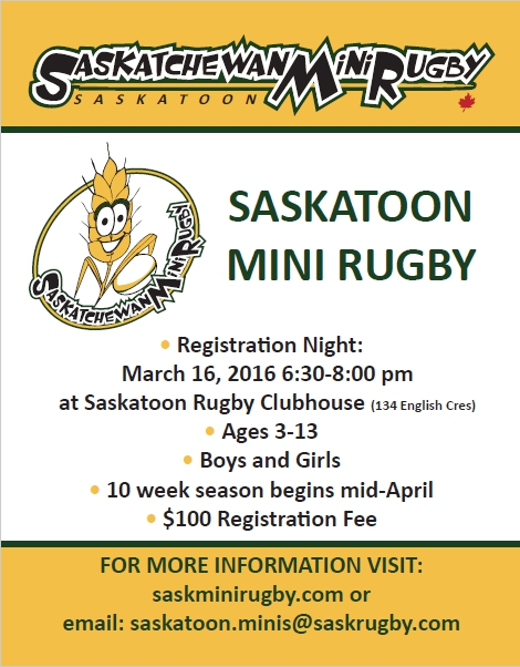 saskatoon mini rugby registration night