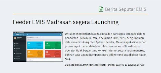 Aplikasi Feeder EMIS Madrasah (EMIS Offline)