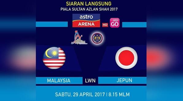 Live Streaming Hoki Malaysia vs Jepun 29 April 2017