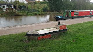 A narrowboat bench