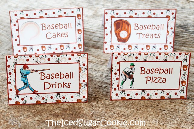 Baseball Sports Food Cards For A DIY Baseball Birthday Party-Printable Digital Download Template The Iced Sugar Cookie-Baseball Drinks, Baseball Cakes, Baseball Treats, Baseball Pizza Baseball Food Cards-Blank- (so you can write or type your own words) Baseball Food Cards with words that say- Baseball Cakes, Baseball Treats, Baseball Pizza, Baseball Drinks Baseball Food Cards with words that say- Soft Pretzels, Burgers, Chips, Dip Baseball Food Cards with words that say- Nachos, Peanuts, Cracker Jacks, Pizza Baseball Food Cards with words- Baseballs, Corn Dogs, Popcorn, Hot Dogs-Sports food cards printables