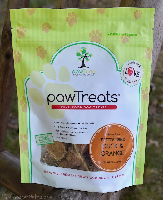 Freeze-Dried Duck and Orange pawTreats pawTree dog treats