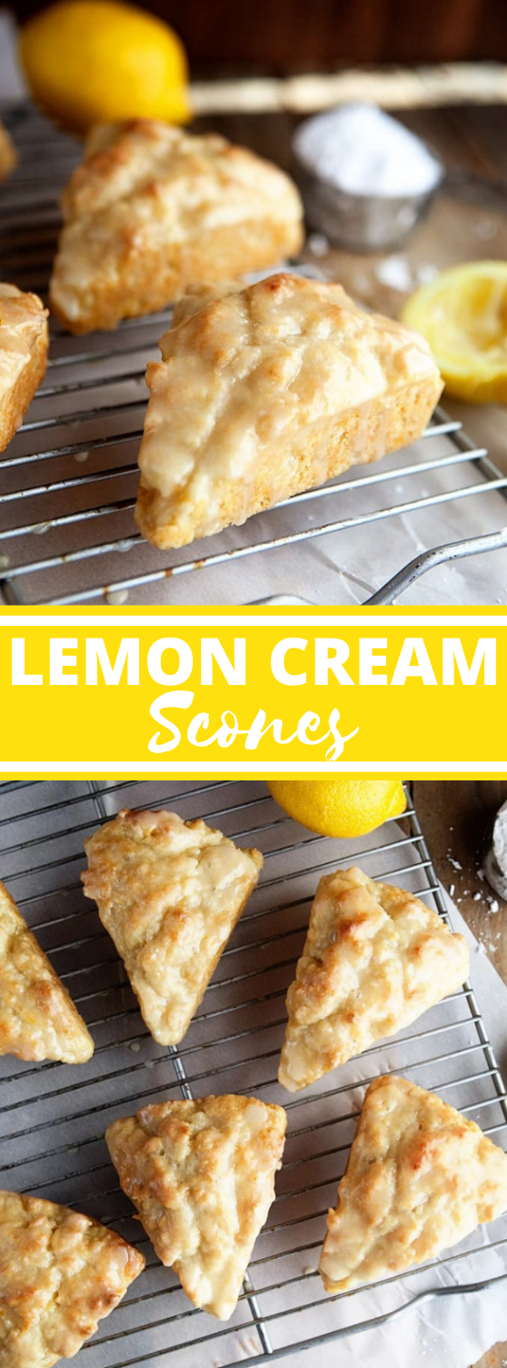 Lemon Cream Scones Recipe #dessert #baking #breakfast #recipe #glazed