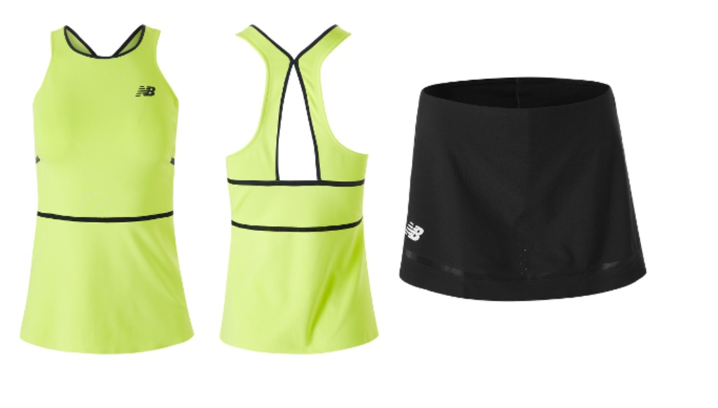Female tennis players New Balance kit for the Australian Open 2020