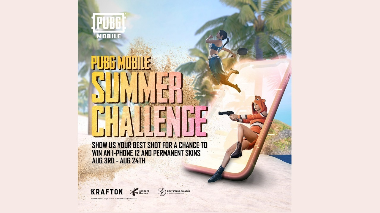PUBG Mobile Summer Challenge: Chance to Win iPhone 12 and Permanent Skins