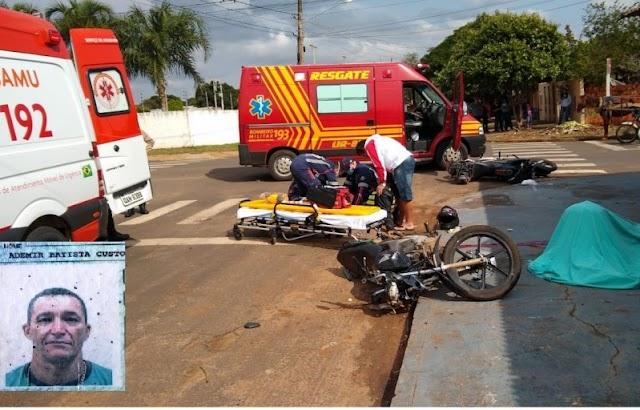 Naviraí-Acidente envolvendo duas motos deixa uma vitima fatal