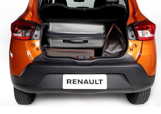 Renault Kwid 2018 - porta-malas 290 litros