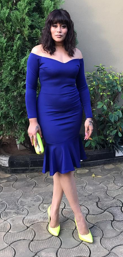 Adunni Ade Have Added Little Weight As She Steps Out In Blue & Lemon