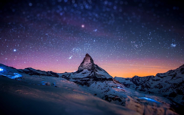 Night Sky Stars Mountain Landscape Scenery 4k 3840x2160 Wallpaper 85