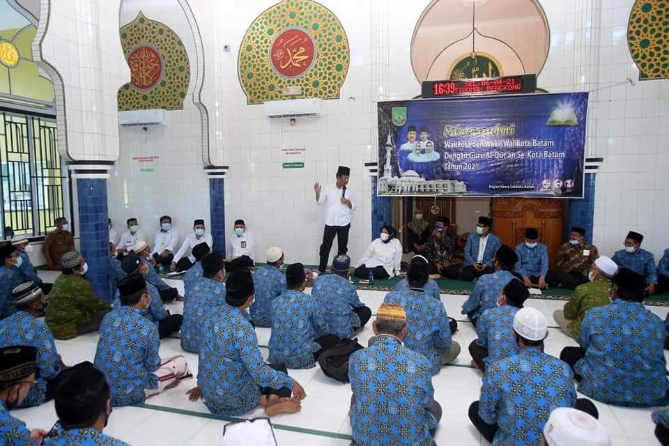 Silaturahmi Bersama BMGQ Kota Batam, Rudi Ajak Guru TPQ Sambut Kemulian Ramadhan
