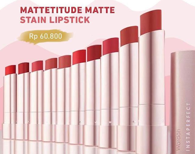 Produk Wardah Mattetitude Matte Stain Lipstick