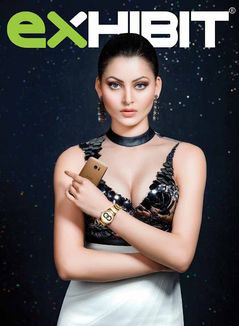 Urvashi Rautela on Exhibit Magazine Cover 2016