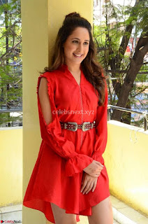 Pragya Jaiswal lovely Pics gallery in Small Red Sleeveless Gown ~ Exclusive