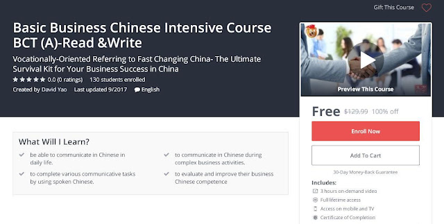 Basic Business Chinese Intensive Course BCT