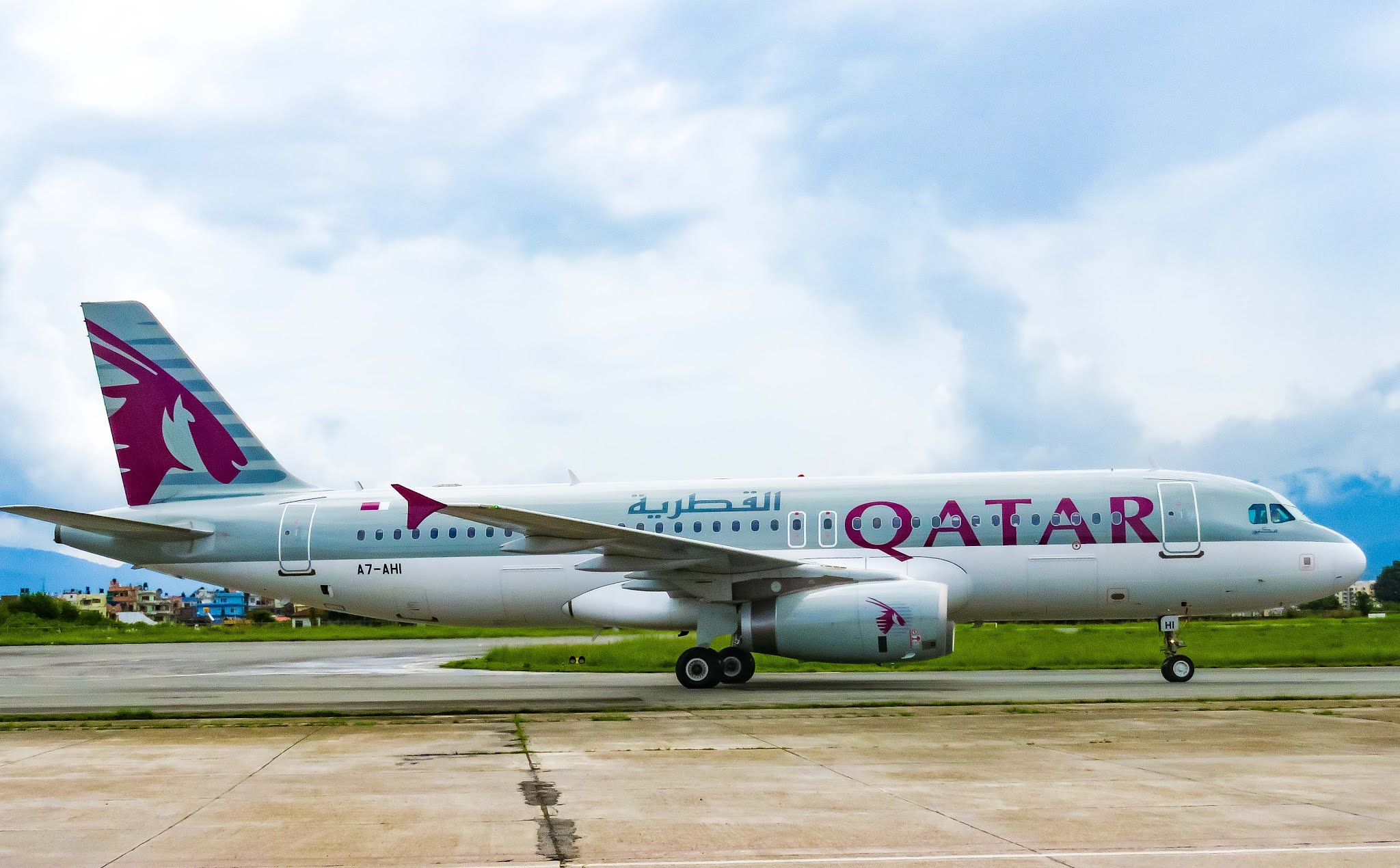 QATAR AIRLINES Airbus A320 Kathmandu to Doha Flight