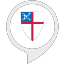 A graphic of the Episcopal Church's logo within an Alexa skill icon.