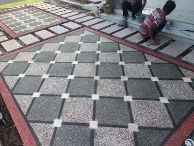 Desain Motif Batu Sikat Diagonal