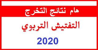 النتائج النهائية لخريجي مركز المفتشين 2020