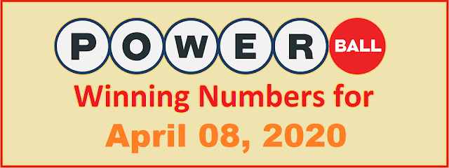 PowerBall Winning Numbers for Wednesday, April 08, 2020